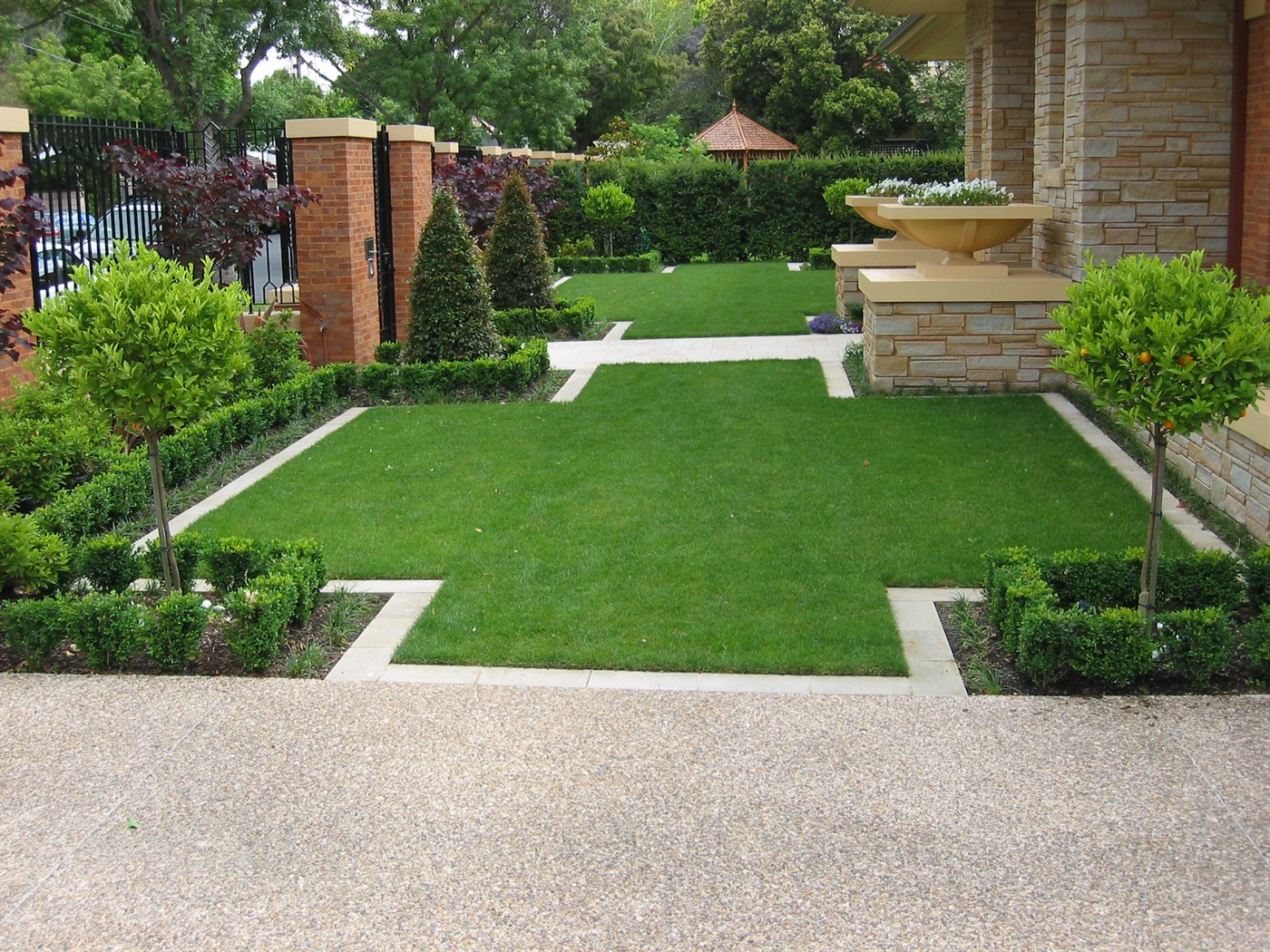 Large brighton garden for Backyard patio landscaping